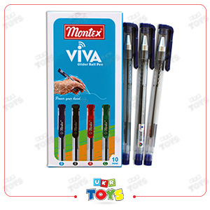 ball-pen-viva-blue-10-pc